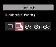Drive Mode for Astrophotography