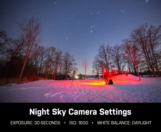 how to take pictures of the night sky