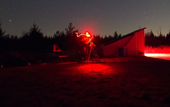 Setting up my Astrophotography gear in the dark