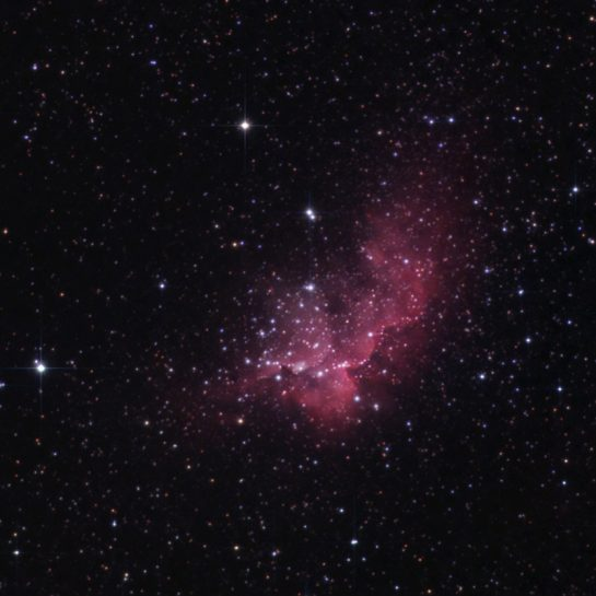 Wizard Nebula through an 80mm telescope