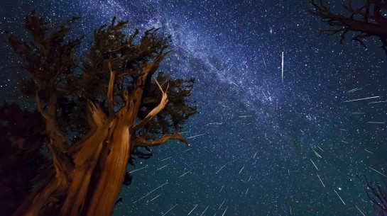 Photo of a meteor shower by Ken Brandon