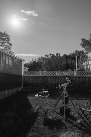 Backyard astrophotography setup
