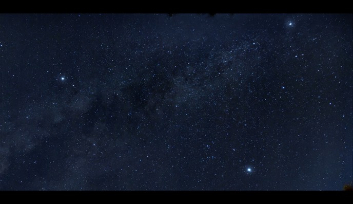 The summer triangle in the night sky