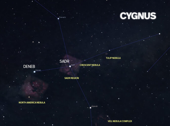 cygnus star map