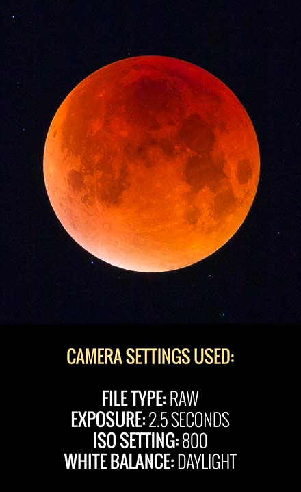 camera settings for lunar eclipse