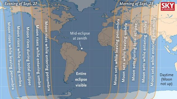Supermoon Lunar Eclipse - Where and When