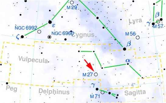 Where to find Messier 27