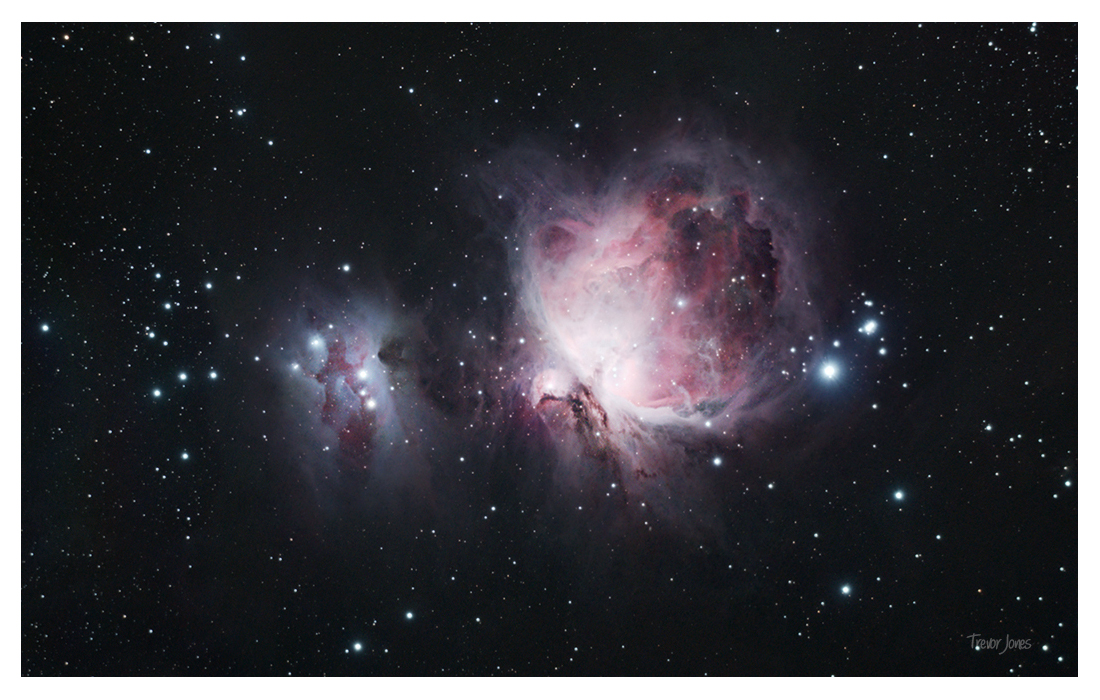 a spectacular sight the orion nebula Parts of orion molecular cloud illuminated by nearby stars causing it to glow eerie green color the orion nebula, light-years from earth, is actively making new stars.