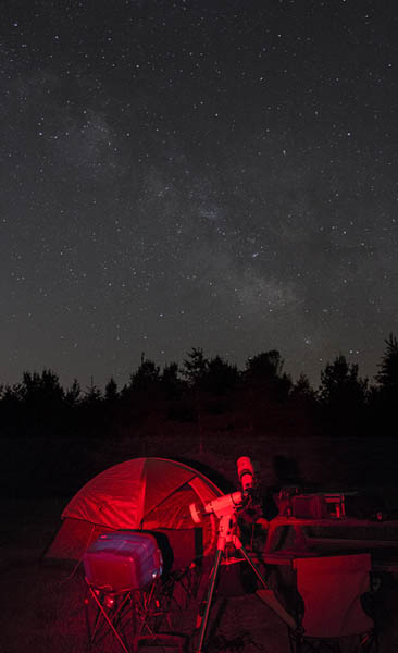 Camping and astrophotography