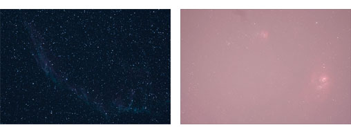 Comparing images in light pollution