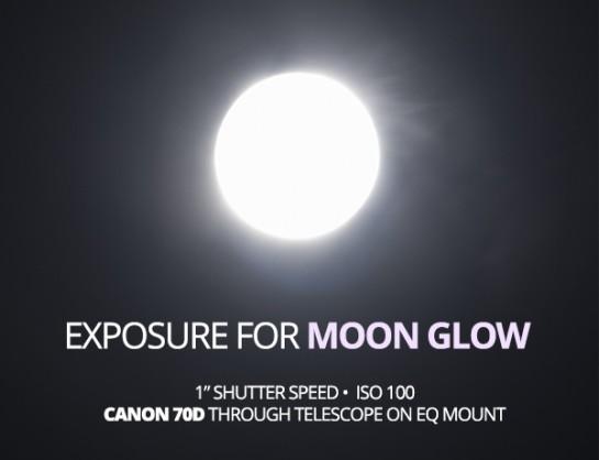 Moon glow taken with a longer shutter speed