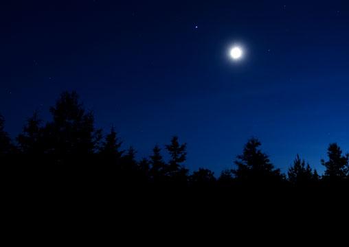Moonlight in the sky