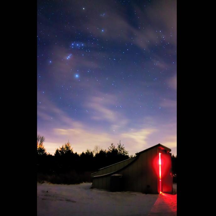 Landscape astrophotography