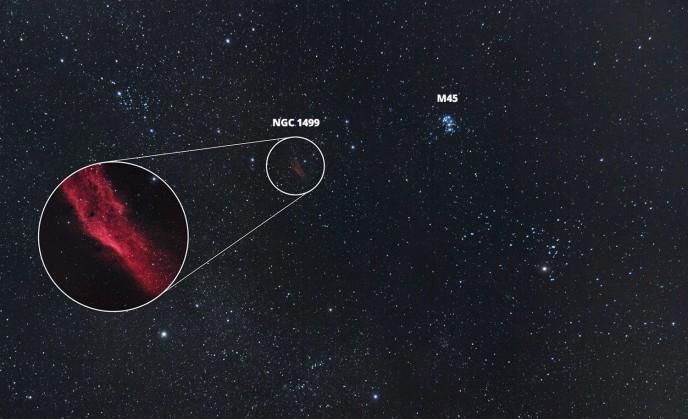 California Nebula location