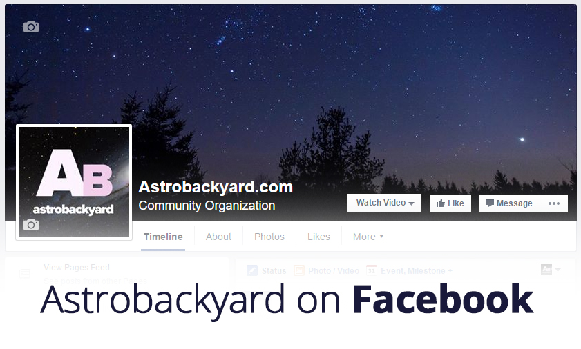 Follow Astrobackyard on Facebook