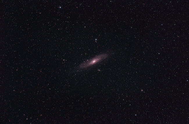 Andromeda Galaxy using a camera lens