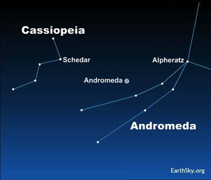 Andromeda Galaxy Star Map