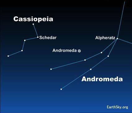 Andromeda Galaxy Star Map