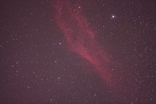 NGC 1499 Photo with DSLR Camera