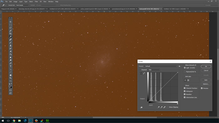 Processing the Triangulum Galaxy in Photoshop