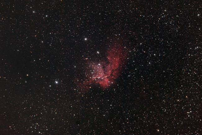 The Wizard Nebula with a modified DSLR camera