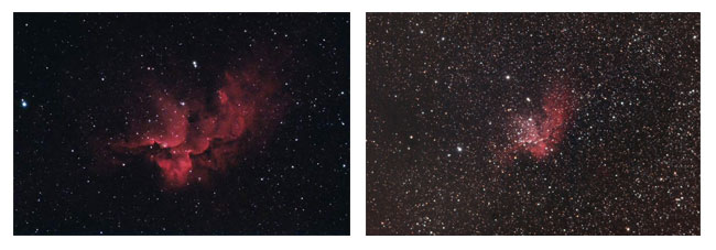 Astrophotography Images of the Wizard Nebula