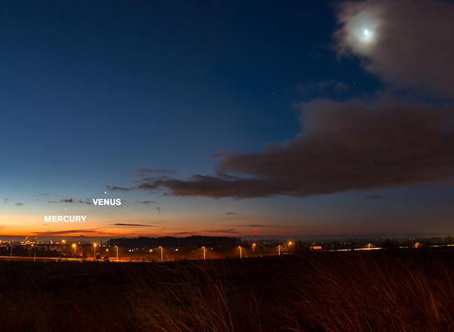 Mercury and Venus low horizon
