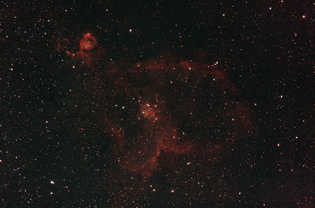 Heart Nebula in RGB with a DSLR camera