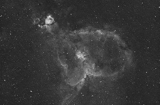 Heart Nebula in Ha using a DSLR camera
