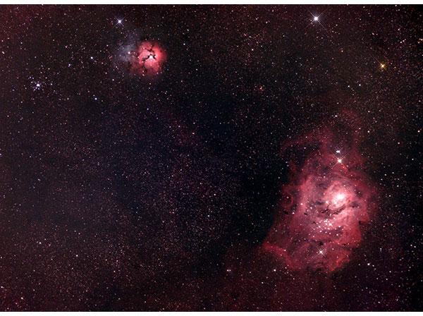 The Lagoon and Trifid Nebula