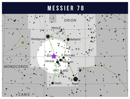 M78 location star map