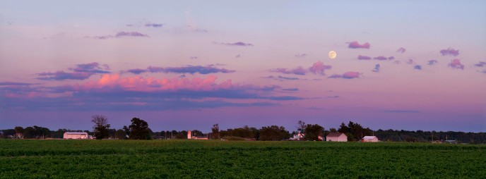 Landscape astronomy photography