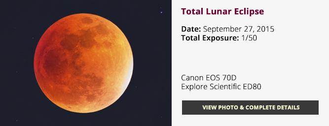 Total Lunar Eclipse - Full Moon