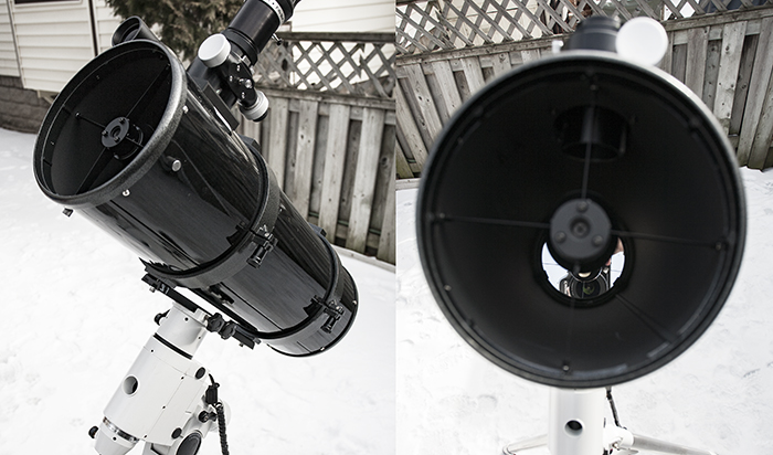 Collimating a newtonian reflector telescope