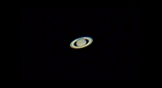 Saturn through telescope