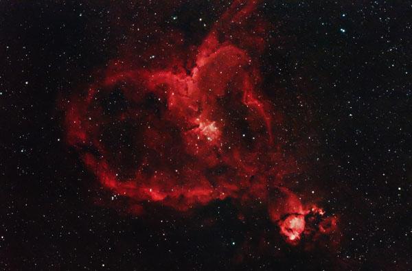 The Heart Nebula with a DSLR camera