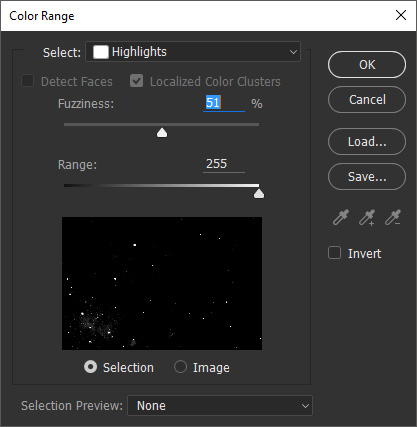 Color Range in Photoshop
