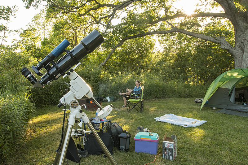 Camping Trip with Telescope
