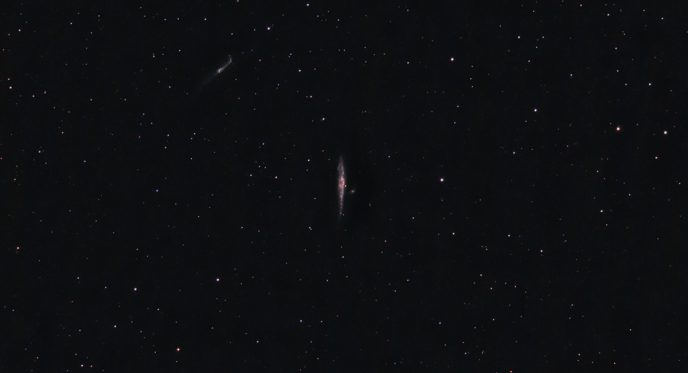 Whale Galaxy and Hockey Stick Galaxy