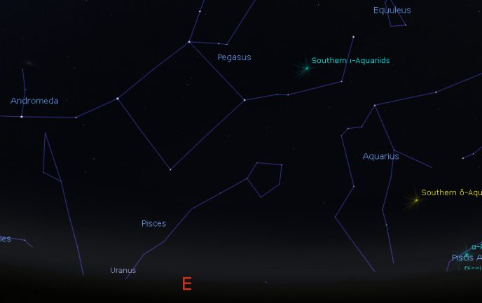 Constellations Pegasus and Aquarius