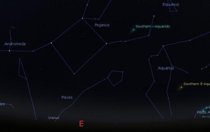 Constellations Pegasus and Aquarius
