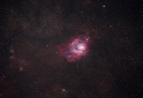 Lagoon Nebula with a DSLR