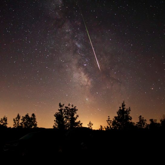 Perseid meteor shower photo