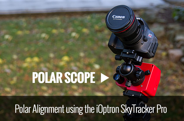 Polar aligning the iOptron SkyTracker Pro