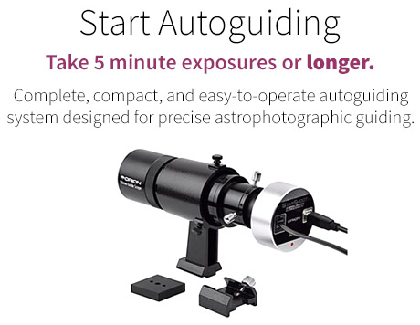 Autoguiding telescope package