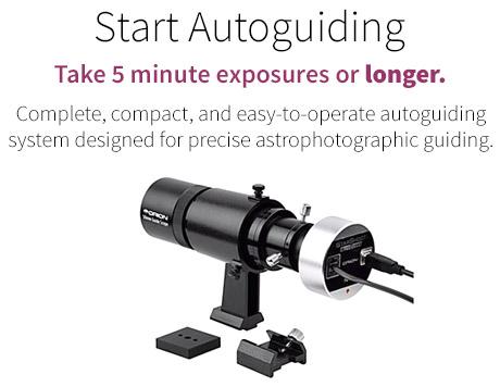 Autoguiding telescope package
