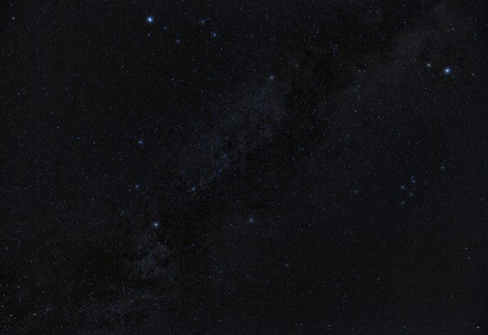 Milky way stars from backyard
