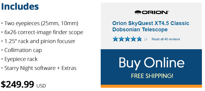 Buy the Orion skyquest telescope