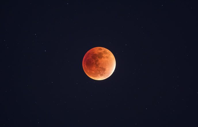 Supermoon lunar eclipse - moon photography