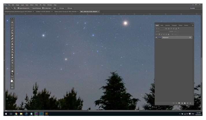 How to manually stack exposures